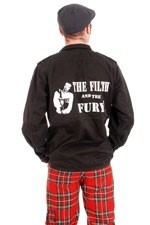 BBH506 Filth and the Fury Black Over Dyed Ex Army Flak Jacket