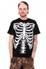BBZ509 White Skeleton Mens Tee