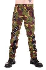 CCF755 Zip Bondage Camouflage Cotton Pants