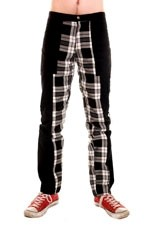 CCF789 Deviant Pants with Black and White Tartan Inner Leg