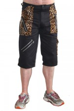 CCF870 - Tiger of London Leopard Trim Bondage Shorts