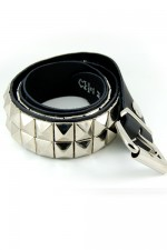 DEB106 2 Row Pyramid Stud Belt