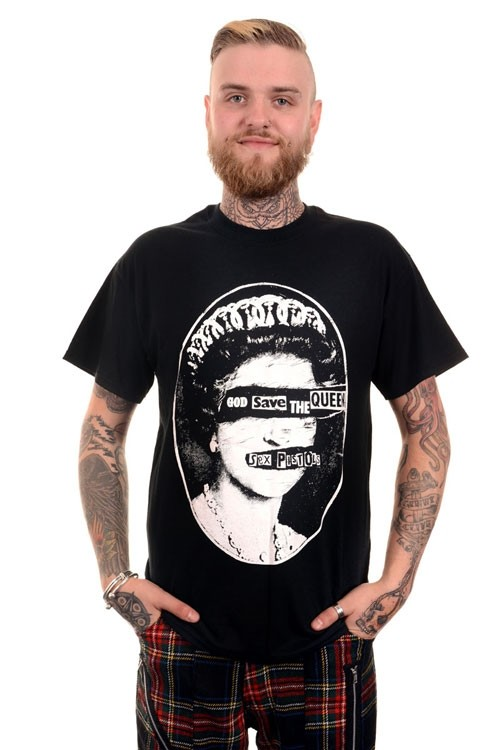 BBZ718 God Save the Queen Sex Pistols Punk Mens Tee