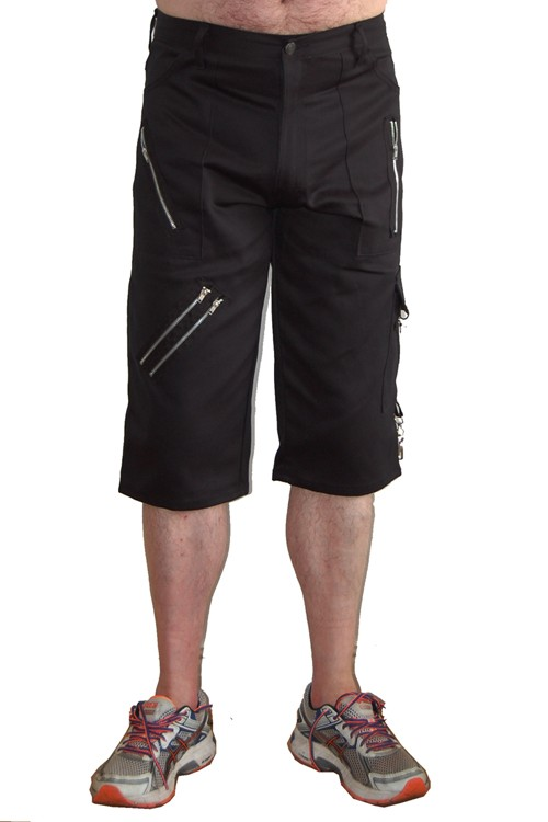 CCF747 Black Cotton Bondage Shorts