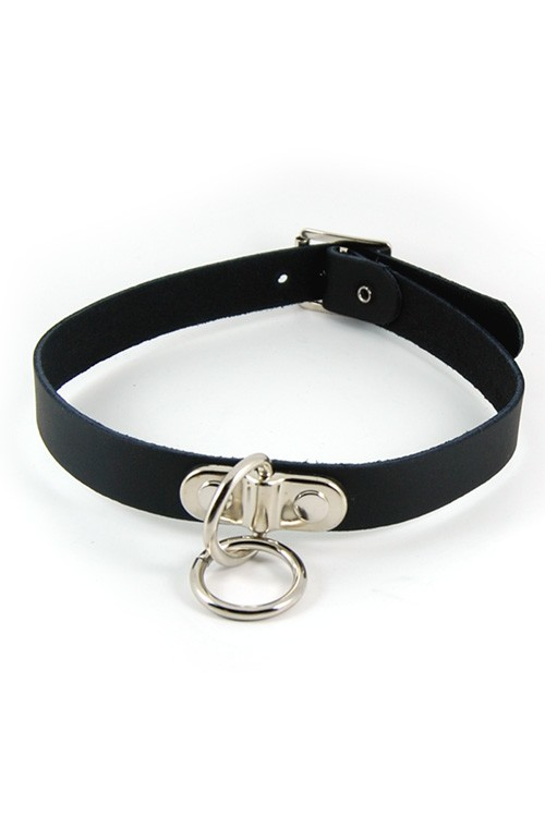 DEC171 Small Ring Leather Neckband