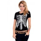 ABZ601 White Skeleton Girls Tee