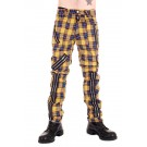 CCF752-YEL Yellow Tartan Zip Bondage Pants