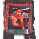 CCJ711 Tartan Bumflap with Print Anarchy