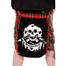 CCJ736 Tartan Bumflap with Discharge Three Skulls