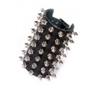 DEA210 7 Row Spike Stud Leather Wristband